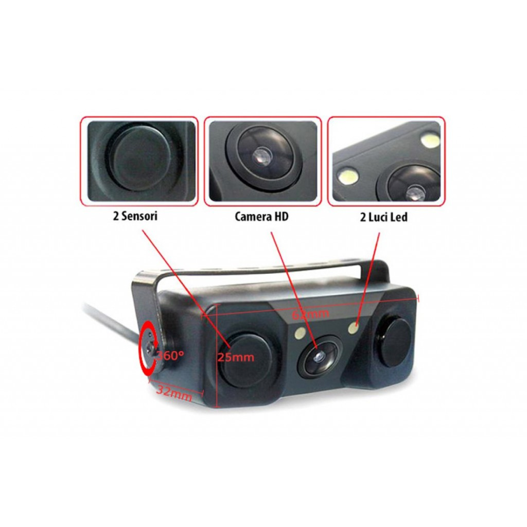 VIDEO PARKING SENSOR 3 IN 1 TELECAMERA