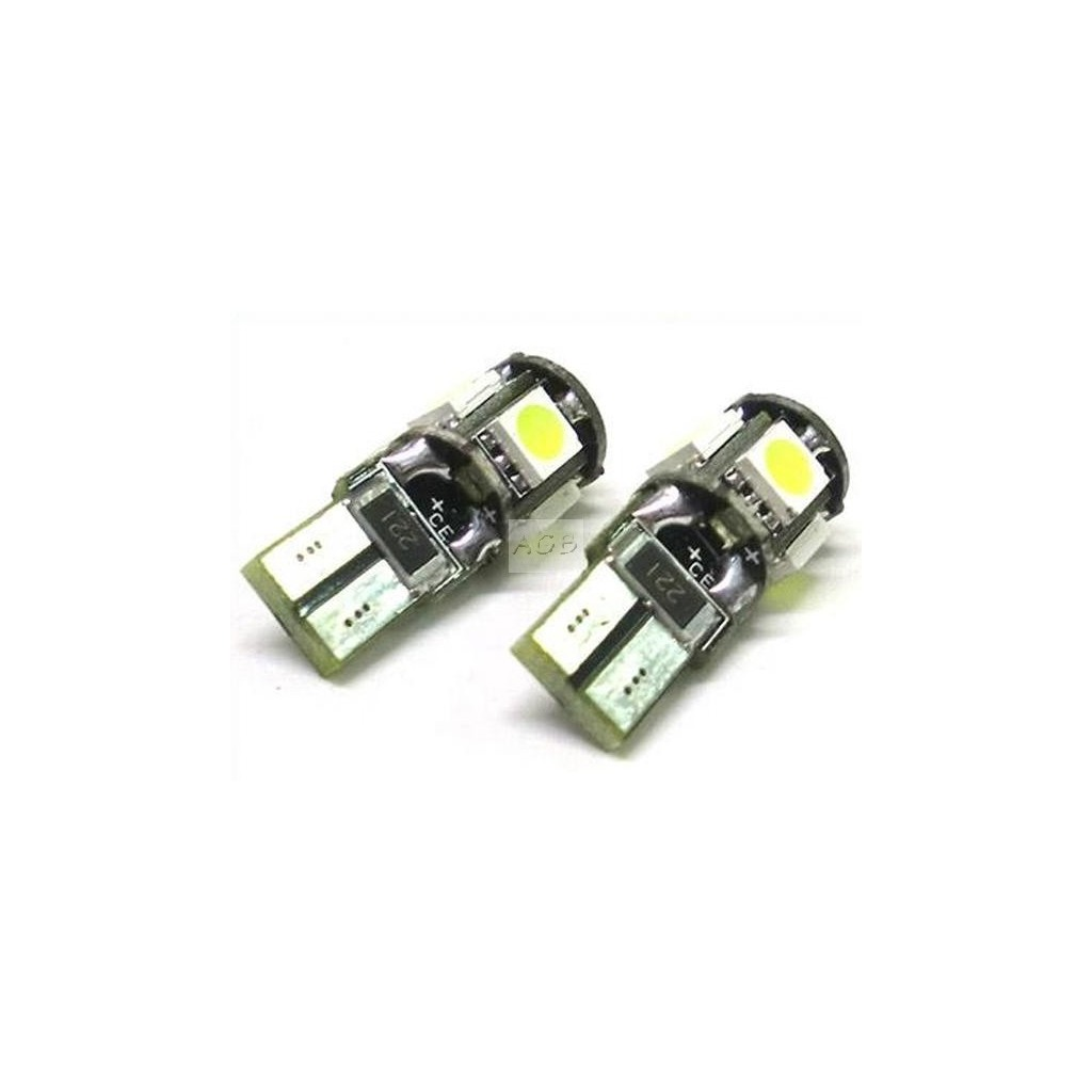 Lampada led canbus t10 w5w 5 smd no error for Luci a led per auto