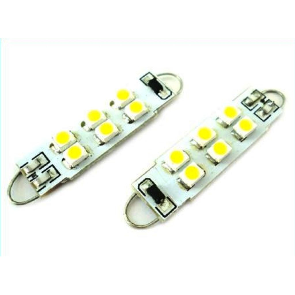 Siluro LED  T11  Con Gancio 38mm 6 SMD 12V