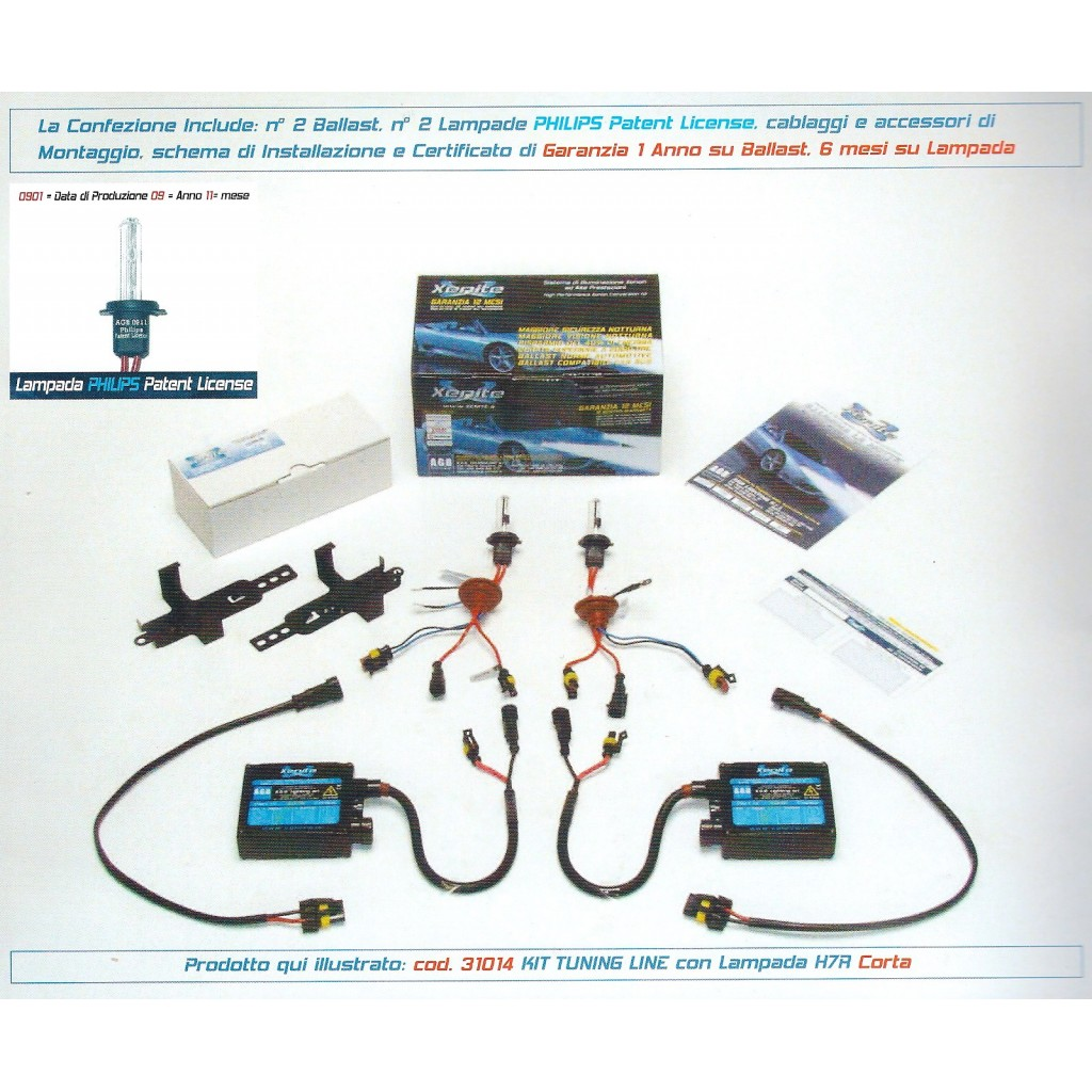 KIT XENON 35W 24 V con Lampade H7 (CAN bus)